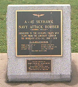 A-4E Skyhawk Fighter Jet Plaque