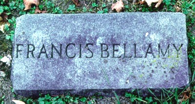 Francis Bellamy's Grave Marker