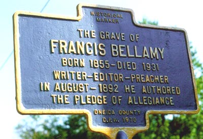 Francis Bellamy Historic Marker