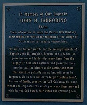 Memorial Plaque To The Captain Of USS Oriskanny