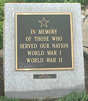 WWI & WWII Plaque